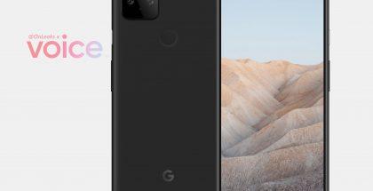 Google Pixel 5a:n mallinnos. Kuva: OnLeaks / Voice.