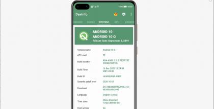 HarmonyOS tunnistautuu Android 10:ksi. Kuva: Ars Technica.