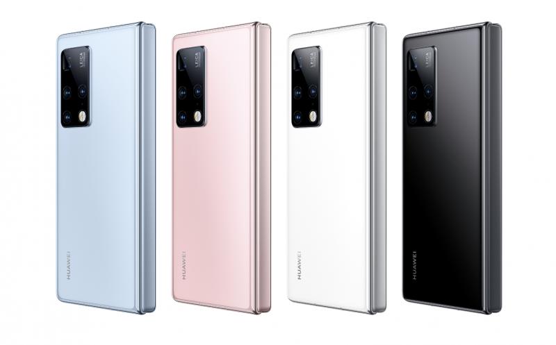 Huawei Mate X2:n neljä värivaihtoehtoa.