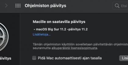 macOS Big Sur 11.2 nyt ladattavissa.