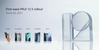 Ensimmäisenä MIUI 12.5 -päivityksen saavat laitteet.