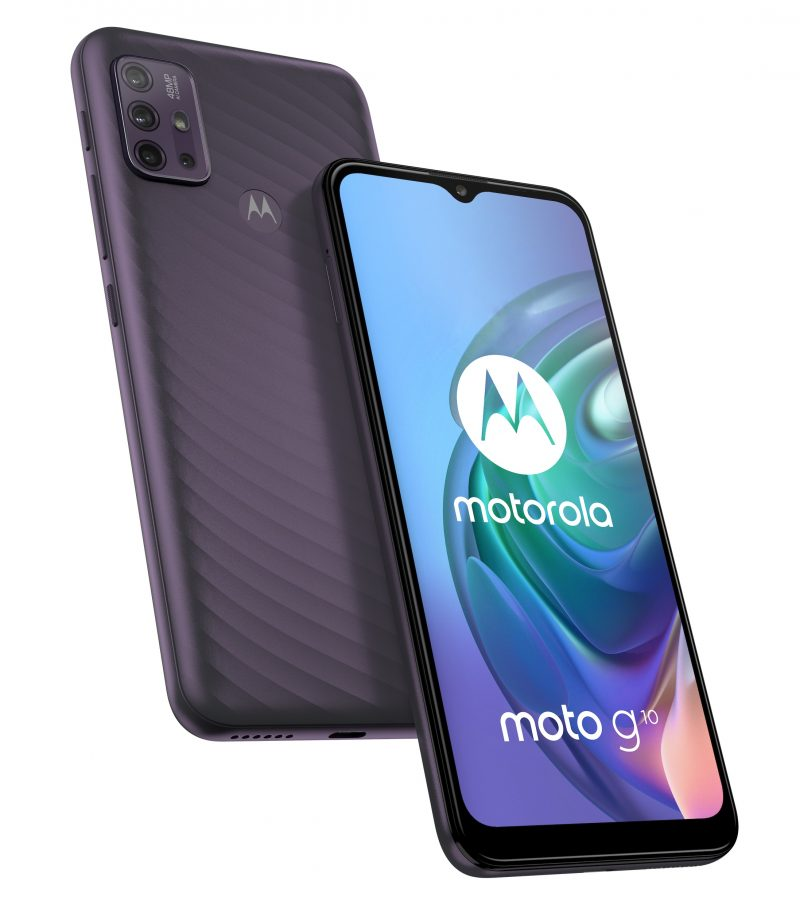 Motorola Moto G10, Aurora Grey.