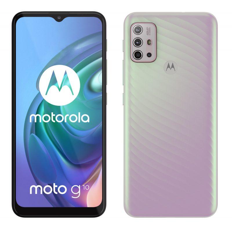 Motorola Moto G10, Iridescent Pearl.