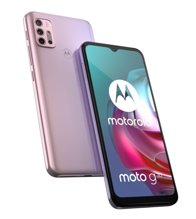 Motorola Moto G30, Pastel Sky.