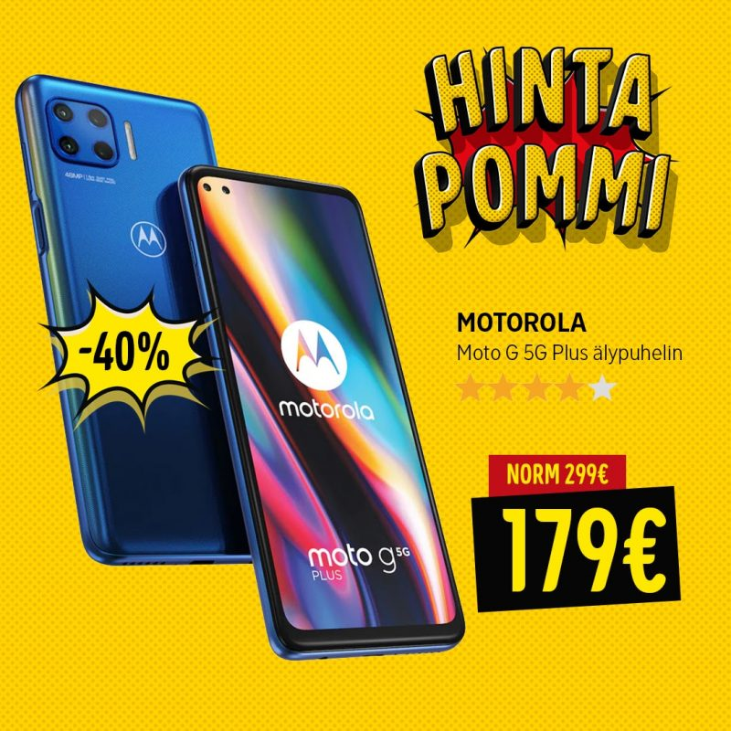 Motorola Moto G 5G Plus -tarjous Gigantissa.