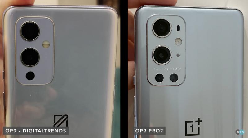 Väitetyt prototyypit vuotaneissa kuvissa. OnePlus 9 ja OnePlus 9 Pro.