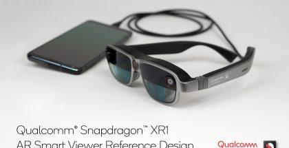 Qualcommin esittelemä Snapdragon XR1 AR Smart Viewer -referenssilaite voi toimia esimerkiksi älypuhelimen tai tietokoneen kanssa kaapelilla kytkettynä.