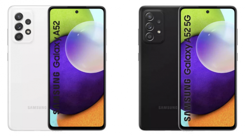 Samsung Galaxy A52 ja Galaxy A52 5G. Kuva: WinFuture.de.