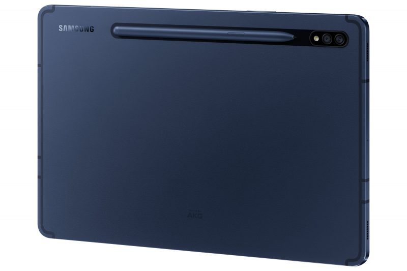 Samsung Galaxy Tab S7 -tablettien uusi Phantom Navy -värivaihtoehto S Pen -kynän kanssa.