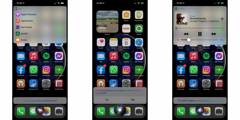 Näin Siri voi tarjota eri sovelluksia käytettäväksi. Kuva: 9to5Mac.