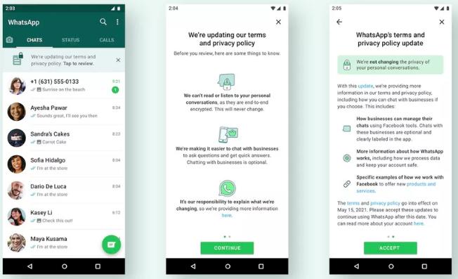 Näin WhatsAppissa kerrotaan nyt toisella yrittämällä käyttöehtojen muutoksesta.