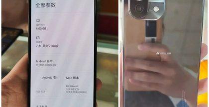 Xiaomi Mi 11 Lite vuotaneissa kuvissa.