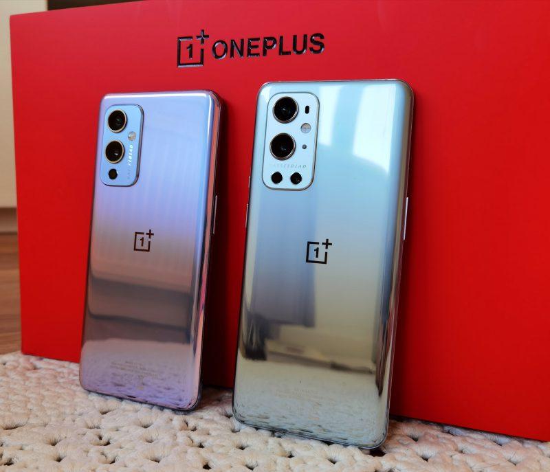 OnePlus 9 ja OnePlus 9 Pro.