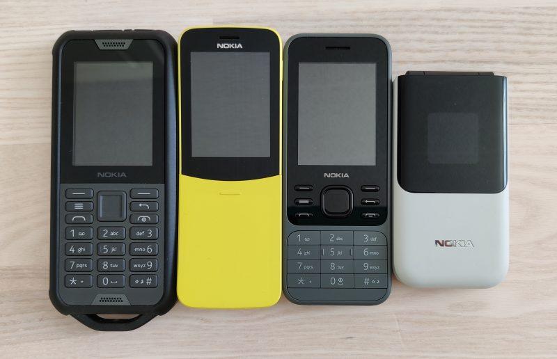 HMD Globalin KaiOS-puhelinmallistoa.