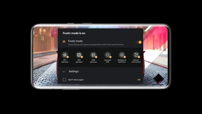 OnePlus-puhelimissa on ollut Fnatic-brändätty pelitila.