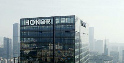 Honor-logo pääkonttorilla.
