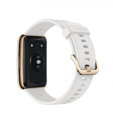Myös Huawei Watch Fit Elegant Edition on vedenkestävyydeltään 5ATM-luokiteltu.