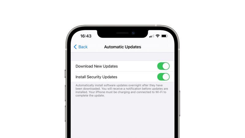 iPhonen päivitysasetusvalikko on myös uudistumassa. Kuva: 9to5Mac.