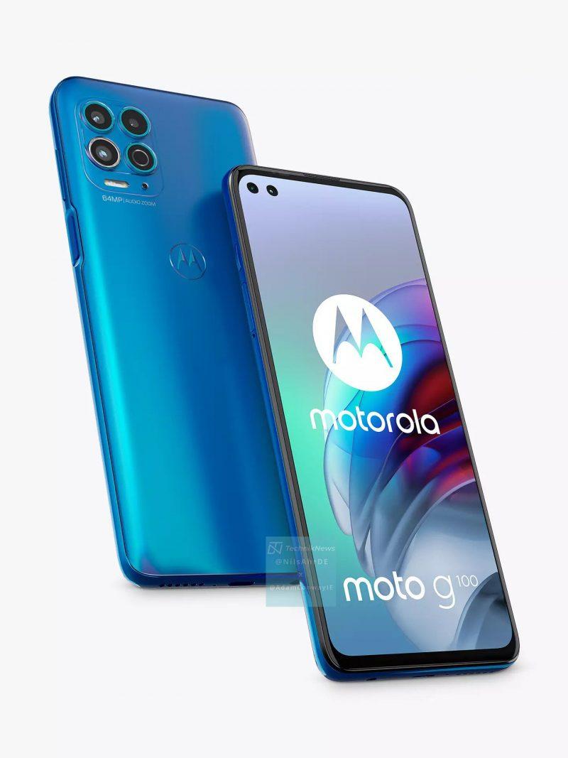 Motorola Moto G100 sinisenä. Kuva: TechknikNews.