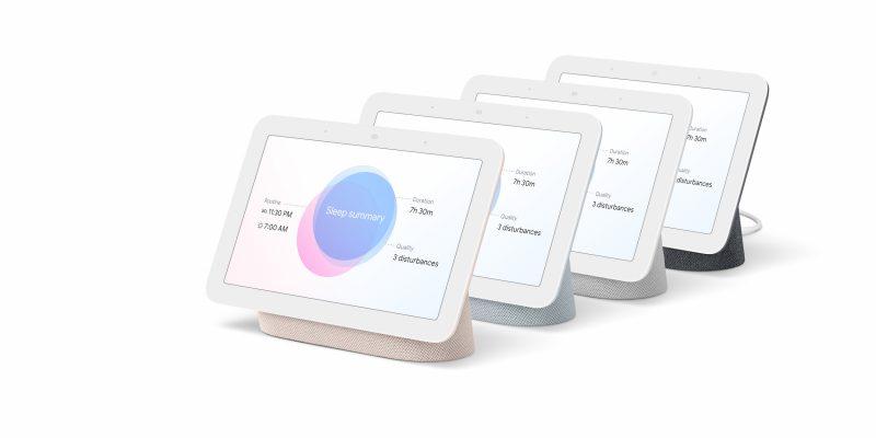 2. sukupolven Nest Hubin neljä värivaihtoehtoa.