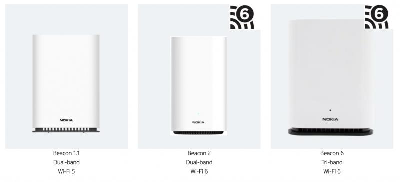 Nokian markkinoimat kolme WiFi Beacon -reititintä.