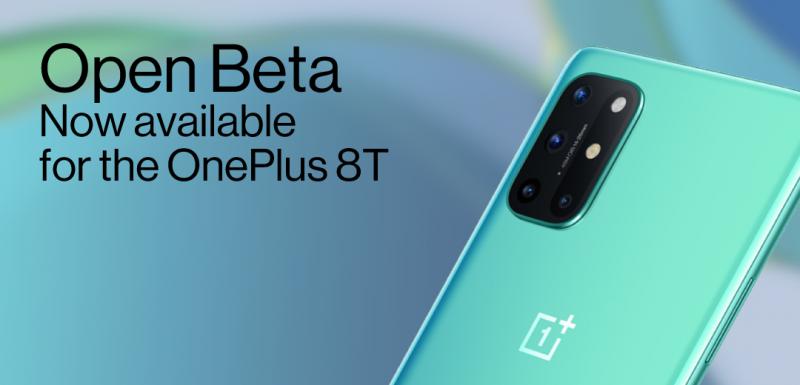 OnePlus 8T:lle on saatavilla nyt Open Beta -testiohjelmisto.
