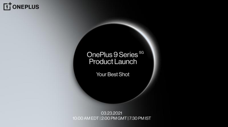 OnePlus 9 -sarja julkistetaan 23. maaliskuuta.
