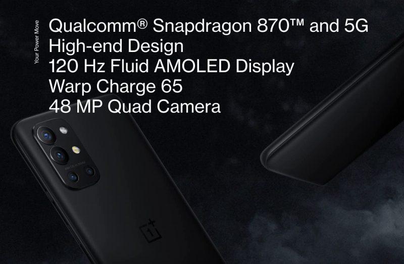 OnePlus 9R on pitkälti Snapdragon 870:llä päivitetty OnePlus 8T.