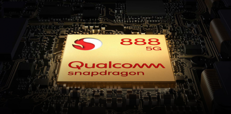 OnePlus 9:ssä ja OnePlus 9 Prossa on Qualcomm Snapdragon 888 -järjestelmäpiiri.