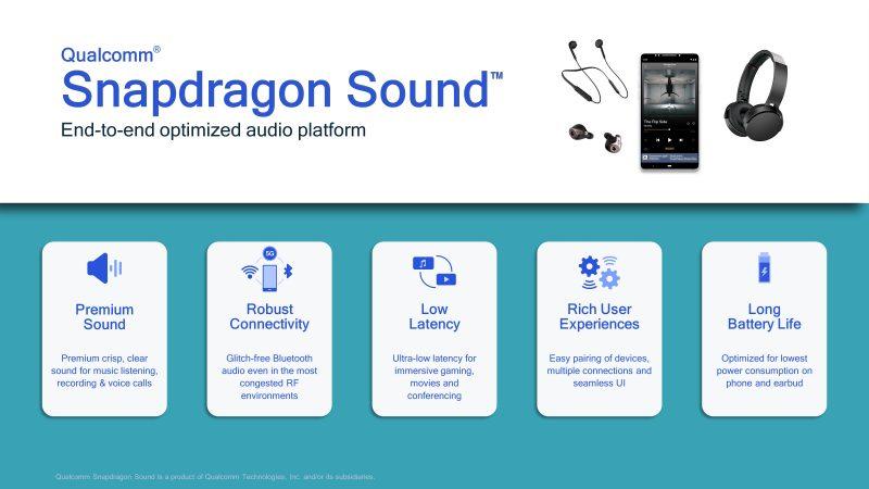 Snapdragon Sound -kokonaisuuden optimoinnilla Qualcomm on pyrkinyt ratkaisemaan äänenlaatuun, yhteyden luotettavuuteen, viiveeseen, käyttökokemukseen ja akunkestoon liittyviä haasteita.