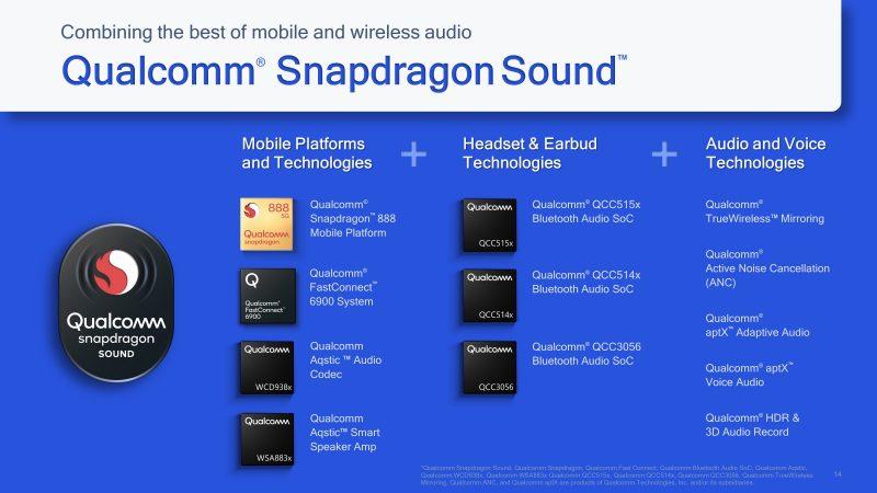 Snapdragon Sound -kokonaisuus rakentuu Qualcommin eri tuotteista älypuhelimiin, kuulokkeisiin ja ohjelmistojen puolella.