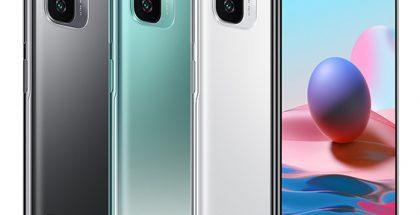 Redmi Note 10 eri väreissä.