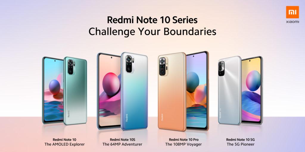 Redmi Note 10 -sarjan puhelimet globaaleille markkinoille.