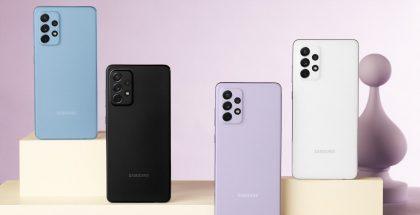 Kuvassa nähtävän Galaxy A72:n seuraajaksi odotettu Galaxy A73 tulee sisältämään huhujen mukaan 108 megapikselin kameran.