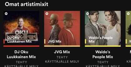 Spotifyn uudet personoidut artisti-, genre- ja vuosikymmensoittolistat.