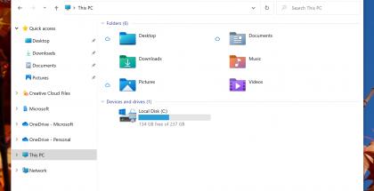 Windows 10:n järjestelmäkuvakkeet, kuten kuvakkeet kansioille, ovat saamassa uuden ilmeen.