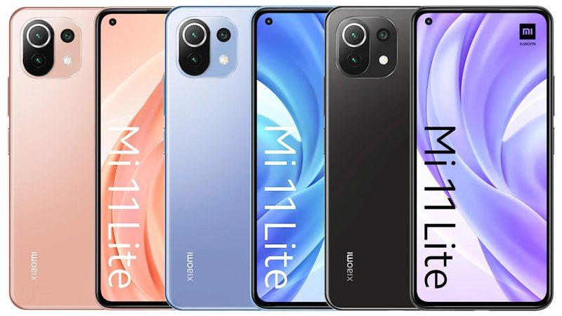 Xiaomi Mi 11 Lite eri väreissä. Kuva: WinFuture.de.