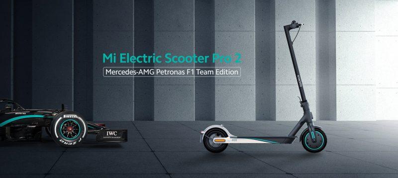 Xiaomi Mi Electric Scooter Pro 2 Mercedes-AMG Petronas F1 Team Edition.