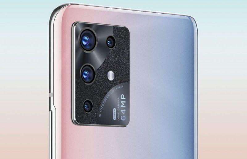 ZTE S30 Pro -älypuhelimen takakamera-alue.