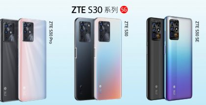 ZTE:n S30-sarjan 5G-älypuhelimet.