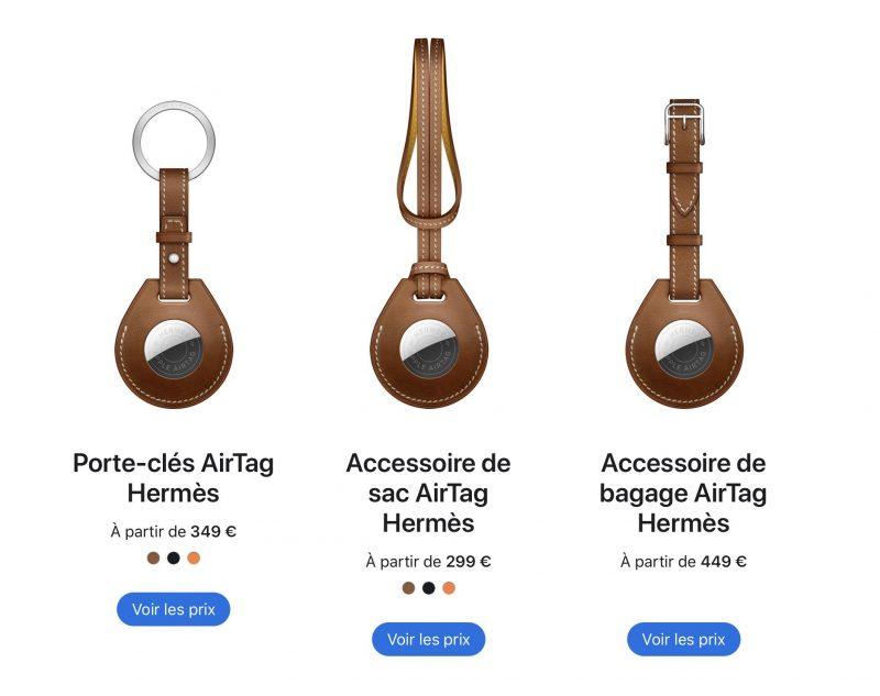 Hermès-lisävarusteet AirTagille.