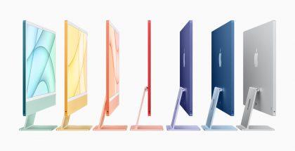 Uuden iMacin seitsemän värivaihtoehtoa.