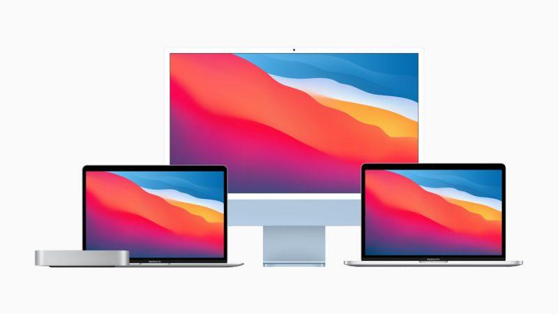 Applen toistaiseksi julkistamat, sen omalla M1-piirillä varustetut Macit.