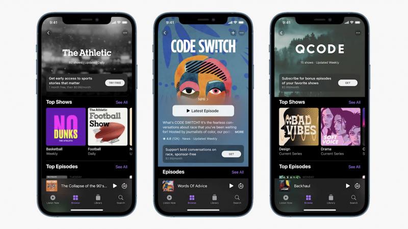 Applen Podcastit-sovellukseen on tulossa tarjolle podcastien maksullisia tilauksia.