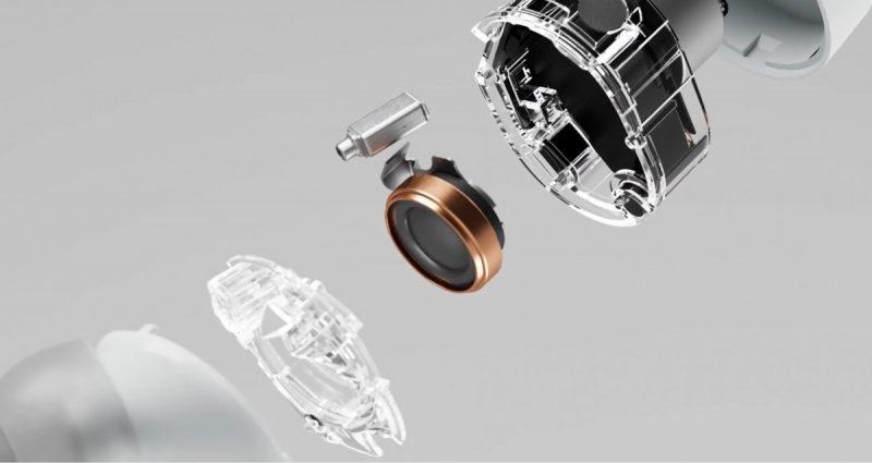 Bowers & Wilkins PI7 -kuulokkeissa on kahden kaiuttimen järjestelmä.
