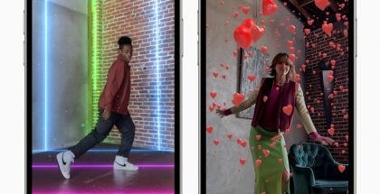 Applen Clips-videosovellus päivittyi lisätyn todellisuuden AR-efekteillä.
