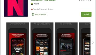 Haittaohjelmasovellus oli listattu FlixOnline-nimellä Google Playssa.