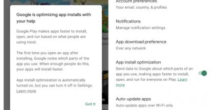 Google Play tarjoaa uuden sovellusten asentamista optimoivan toiminnon. Kuvat: 9to5Google.