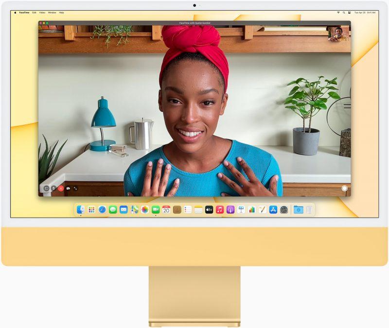 Applen uudessa iMacissa on aiempaa parempi kamera, mutta se on edelleen tarkkuudeltaan vain 1080p.