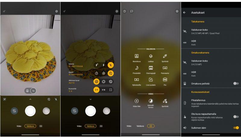 Motorolan hienoisesti uudistunut kameraohjelmisto on monipuolinen ja helppokäyttöinen.